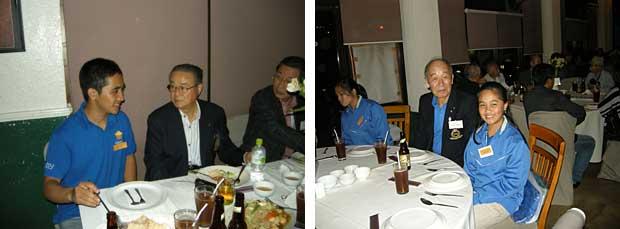 バギオパレスホテルで奨学生と懇親会